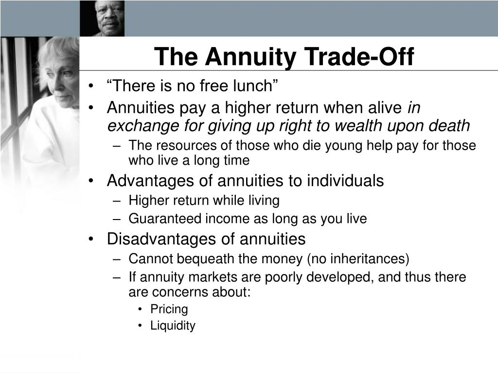 The Annuity Trade-Off