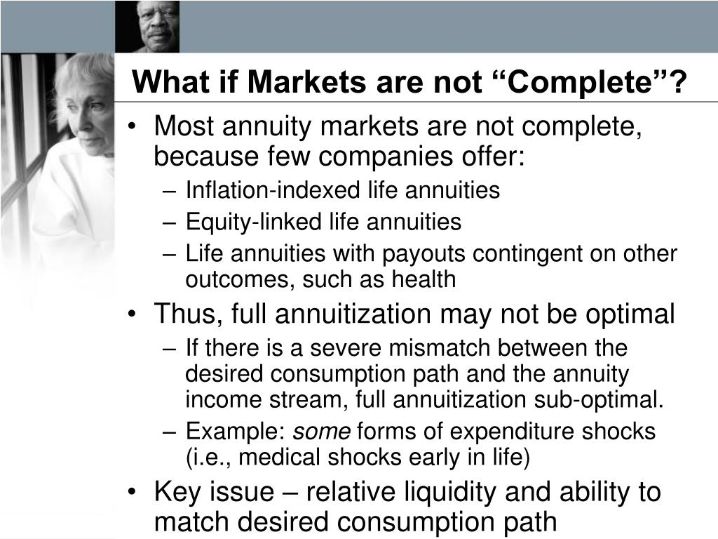 "What if Markets are not ""Complete""?"