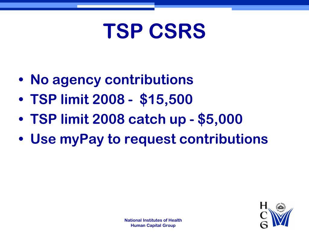 TSP CSRS