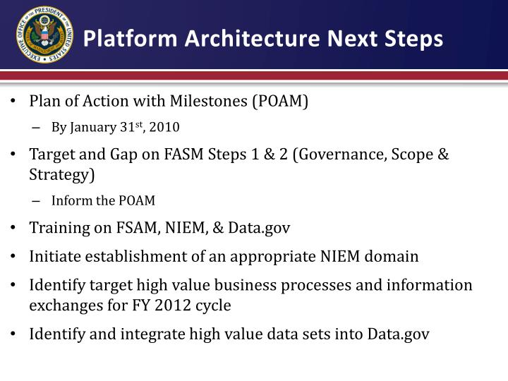 Platform Architecture Next Steps