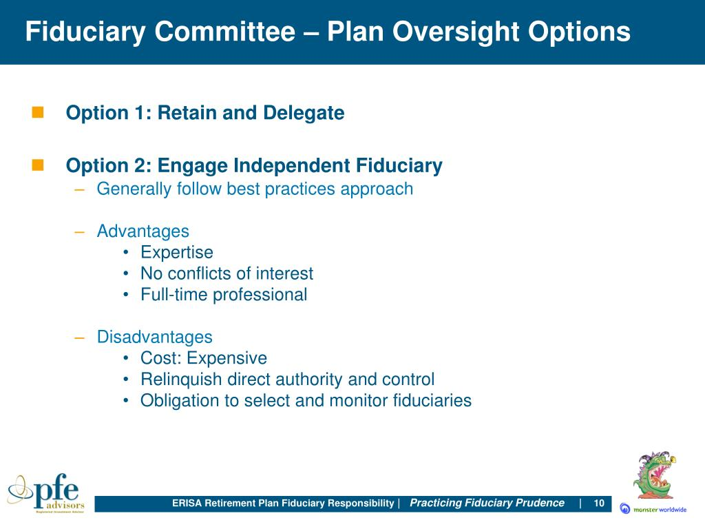 Fiduciary Committee – Plan Oversight Options