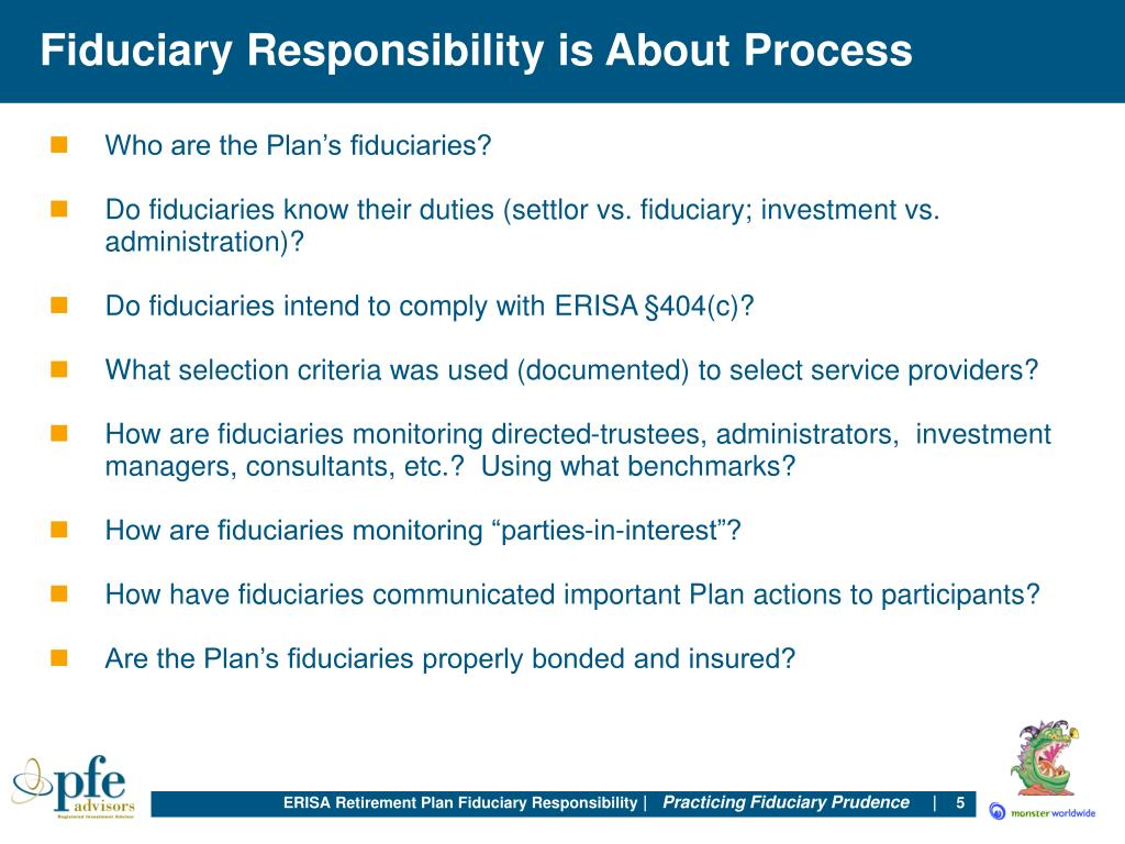 Fiduciary Responsibility is About Process