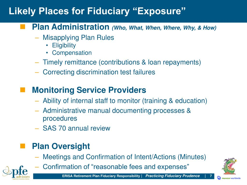 "Likely Places for Fiduciary ""Exposure"""