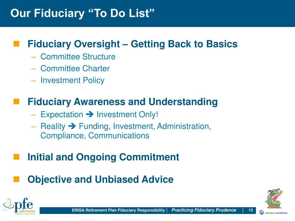 "Our Fiduciary ""To Do List"""