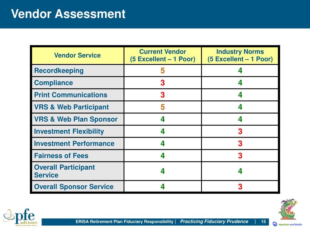 Vendor Assessment