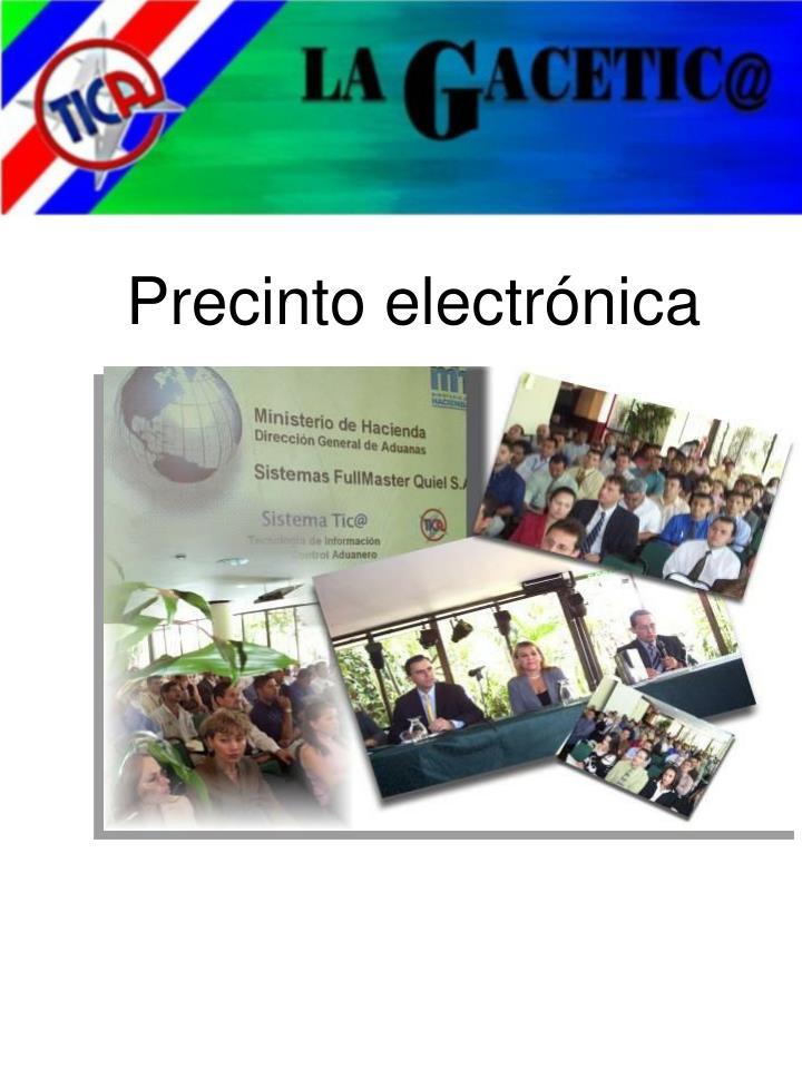Precinto electrónica