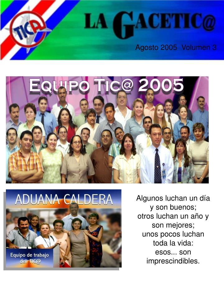 Agosto 2005  Volumen 3