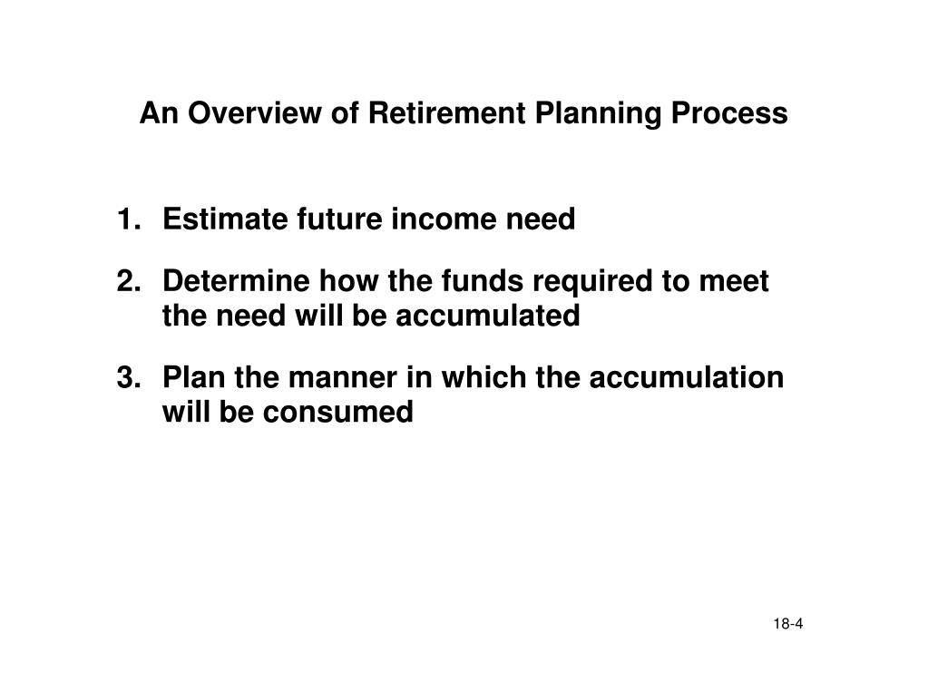 An Overview of Retirement Planning Process