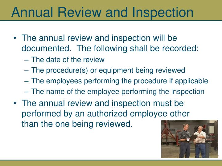 Annual Review and Inspection