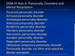 dsm iv axis ii personality disorders and mental retardation