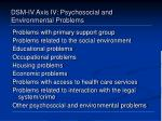 dsm iv axis iv psychosocial and environmental problems
