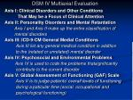 dsm iv multiaxial evaluation1