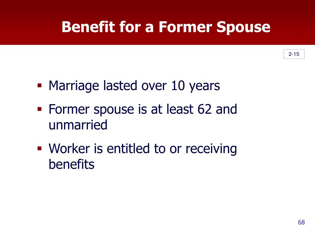 Benefit for a Former Spouse