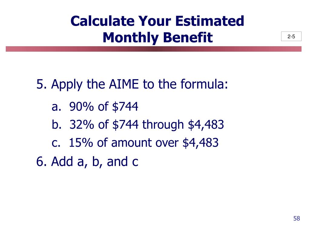 Calculate Your Estimated