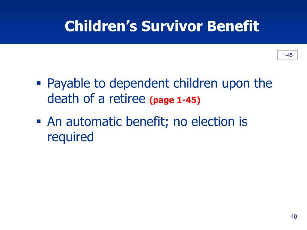Children's Survivor Benefit