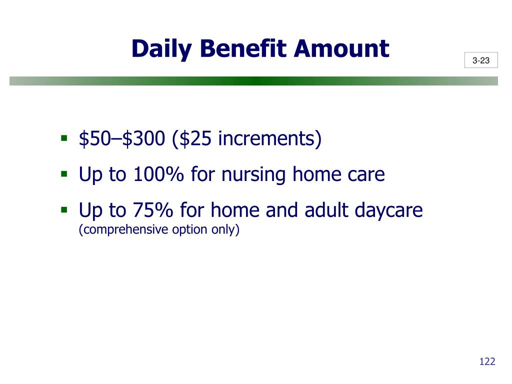 Daily Benefit Amount