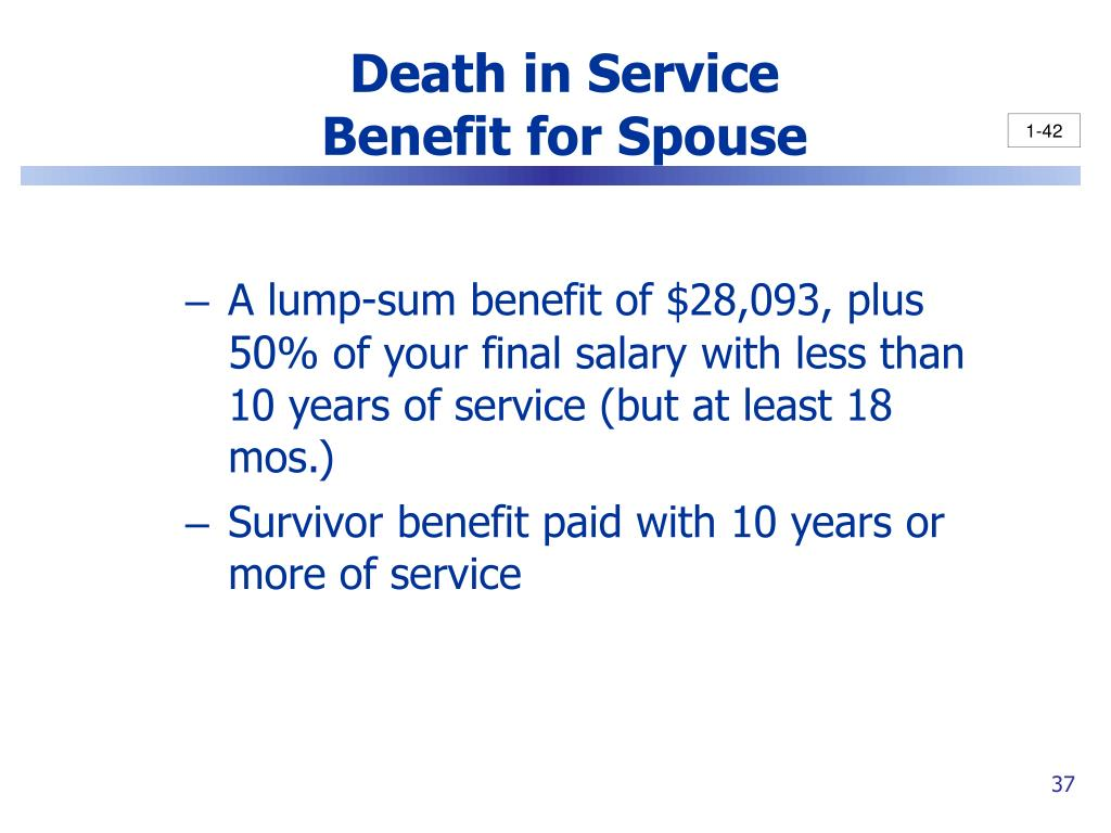 Death in Service