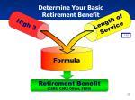 determine your basic retirement benefit