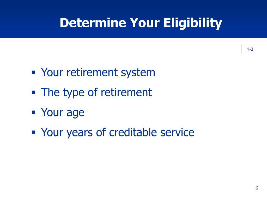Determine Your Eligibility