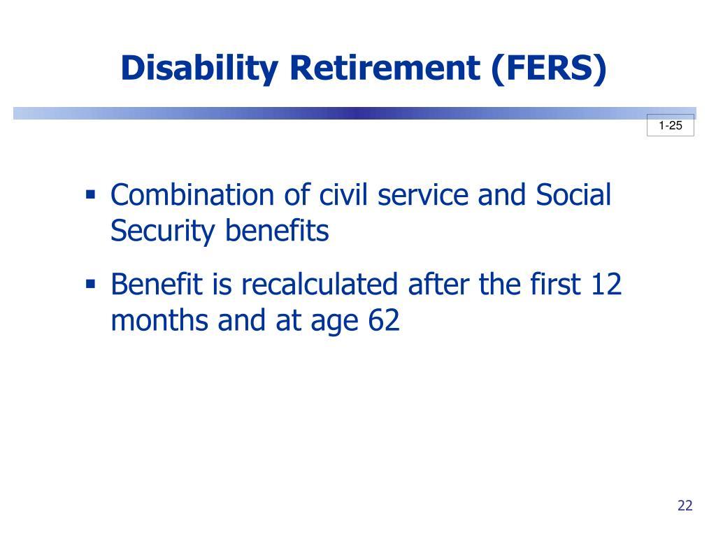 Disability Retirement (FERS)