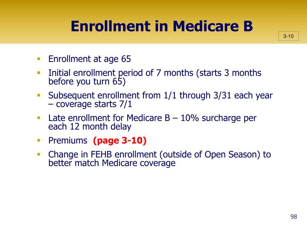 Enrollment in Medicare B