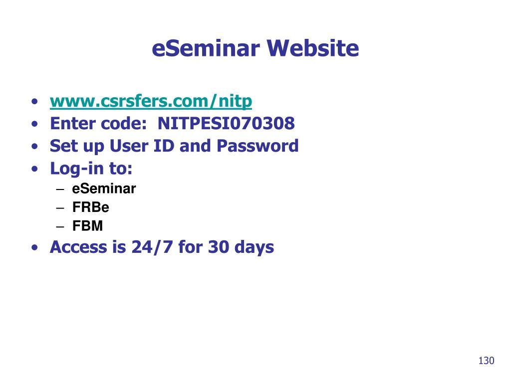 eSeminar Website