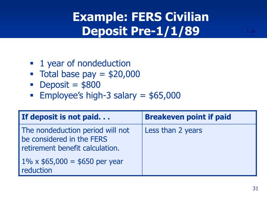 Example: FERS Civilian
