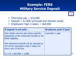example fers military service deposit