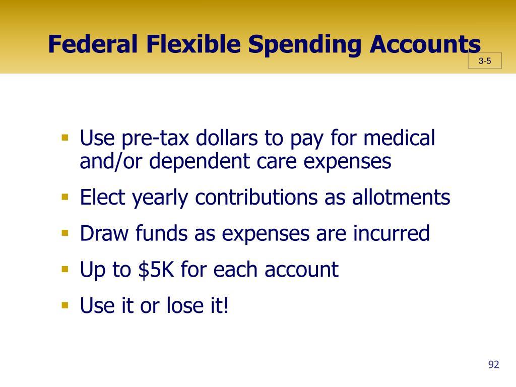 Federal Flexible Spending Accounts