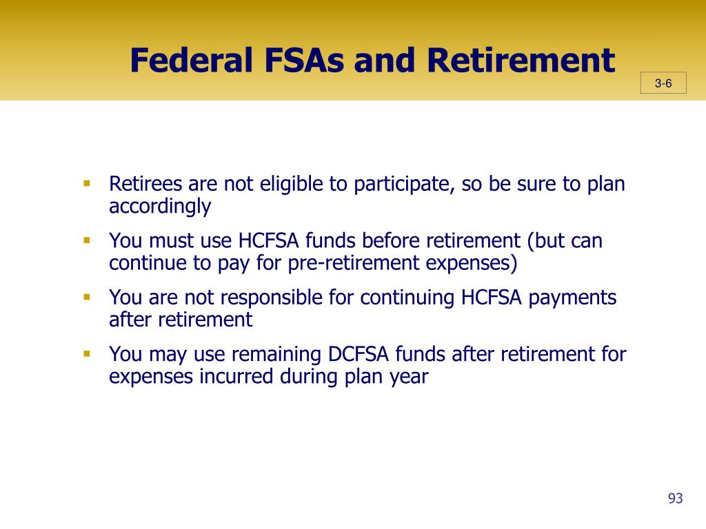 Federal FSAs and Retirement