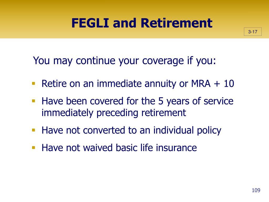 FEGLI and Retirement