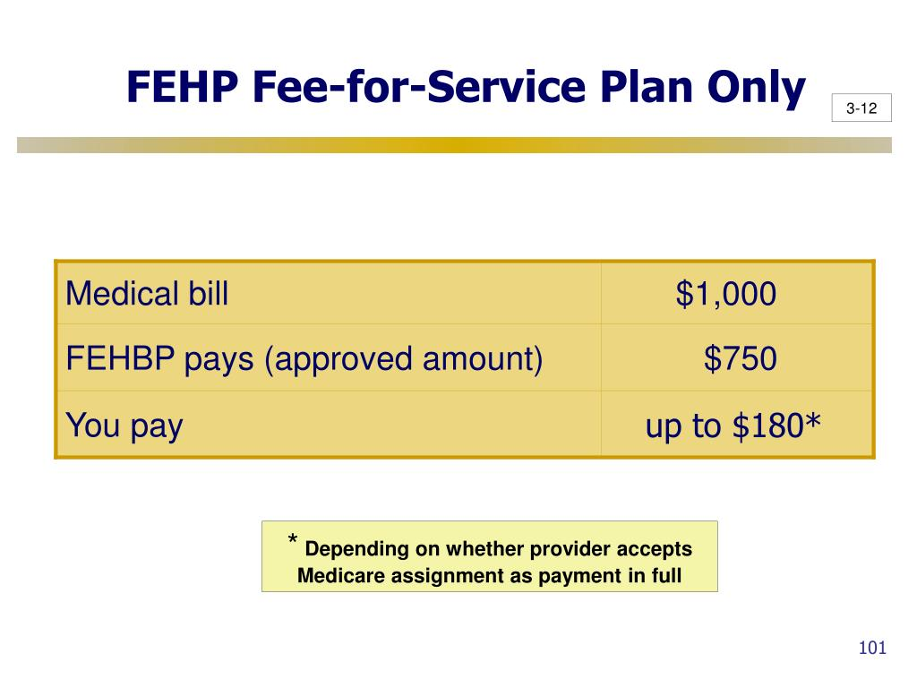 FEHP Fee-for-Service Plan Only