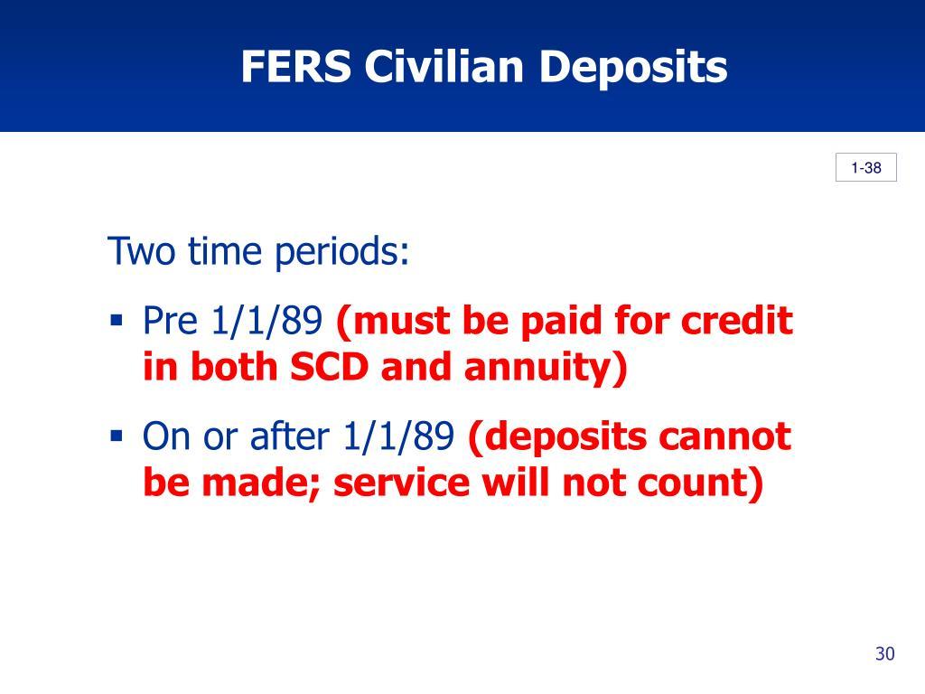 FERS Civilian Deposits