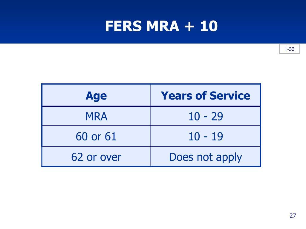 FERS MRA + 10