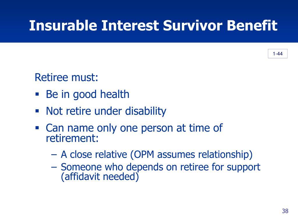 Insurable Interest Survivor Benefit