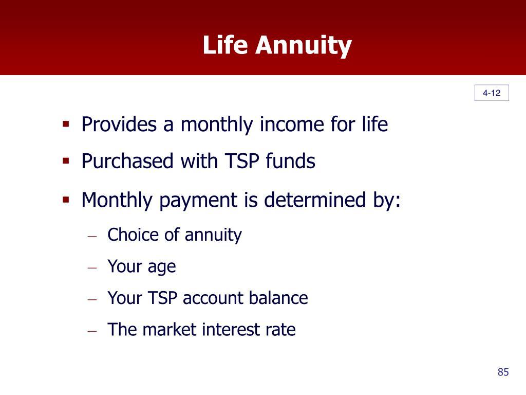 Life Annuity