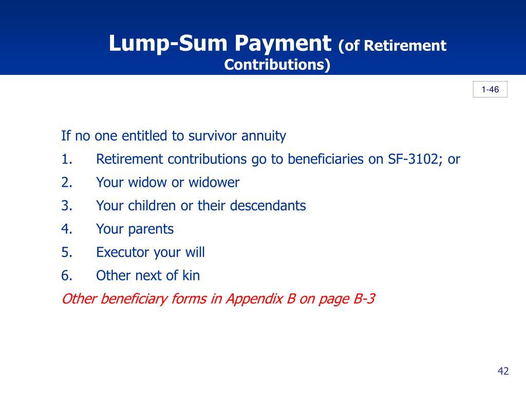 Lump-Sum Payment