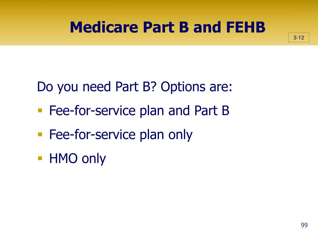 Medicare Part B and FEHB