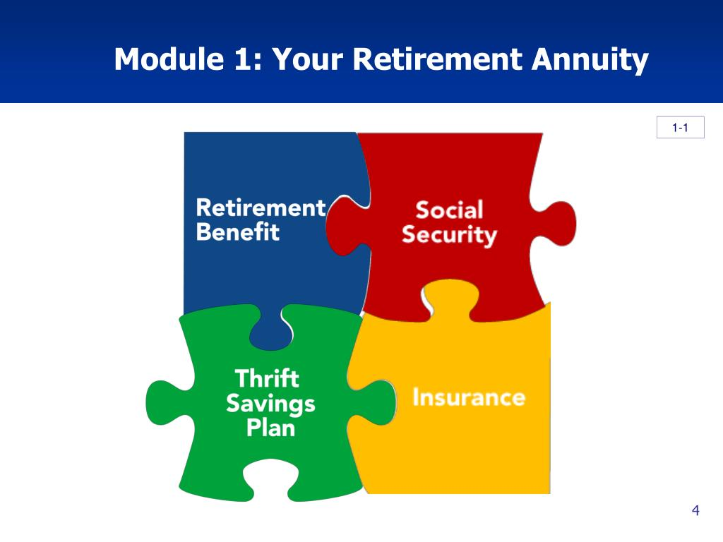 Module 1: Your Retirement Annuity