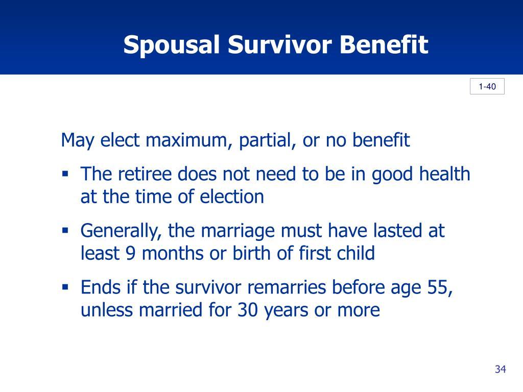 Spousal Survivor Benefit