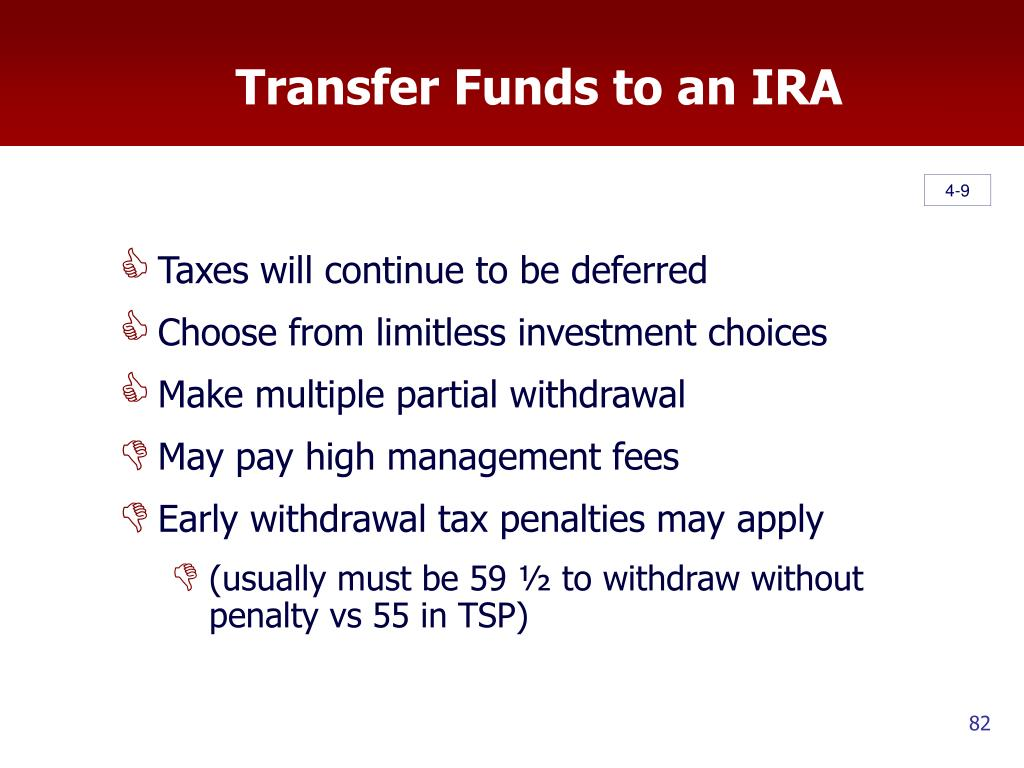 Transfer Funds to an IRA