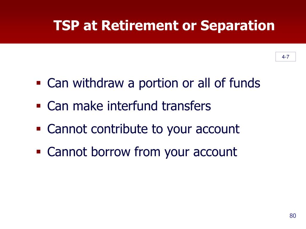 TSP at Retirement or Separation