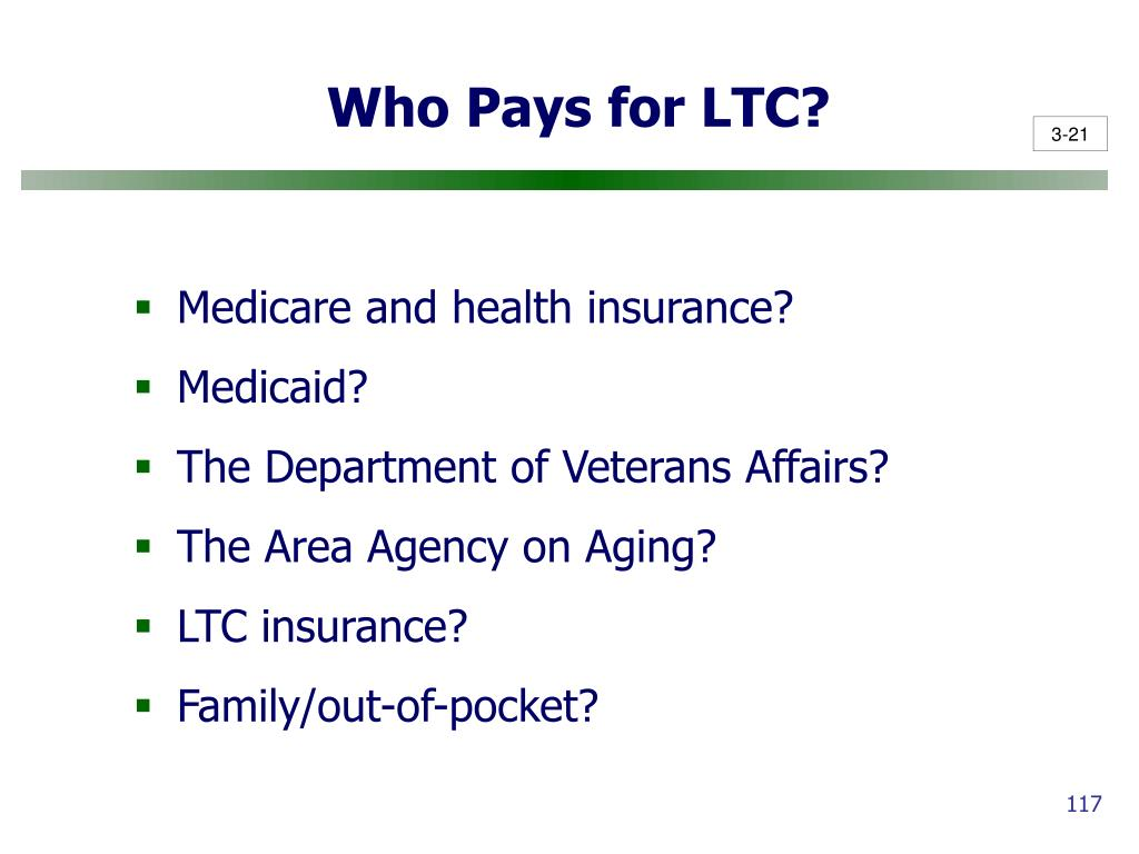 Who Pays for LTC?