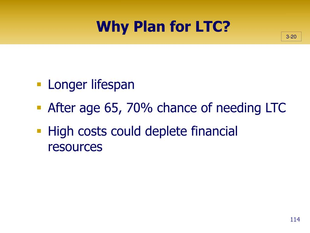 Why Plan for LTC?