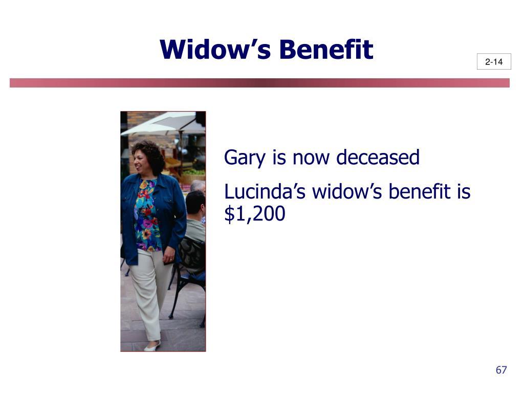 Widow's Benefit