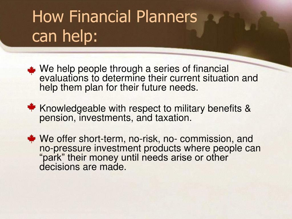 How Financial Planners