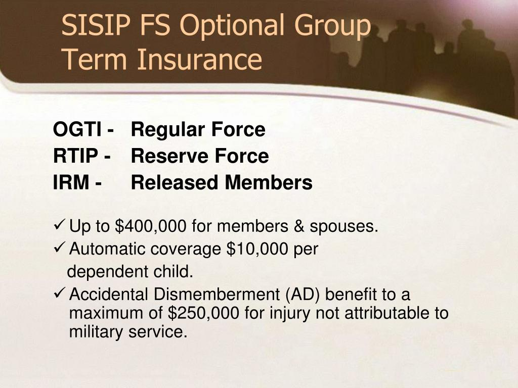 SISIP FS Optional Group