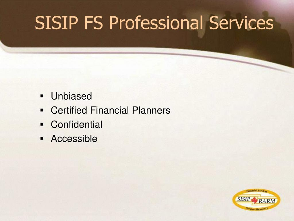 SISIP FS Professional Services