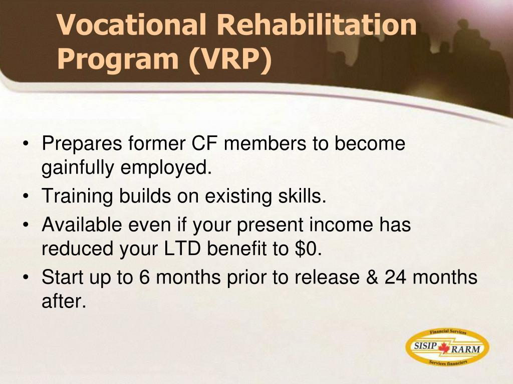 Vocational Rehabilitation Program (VRP)