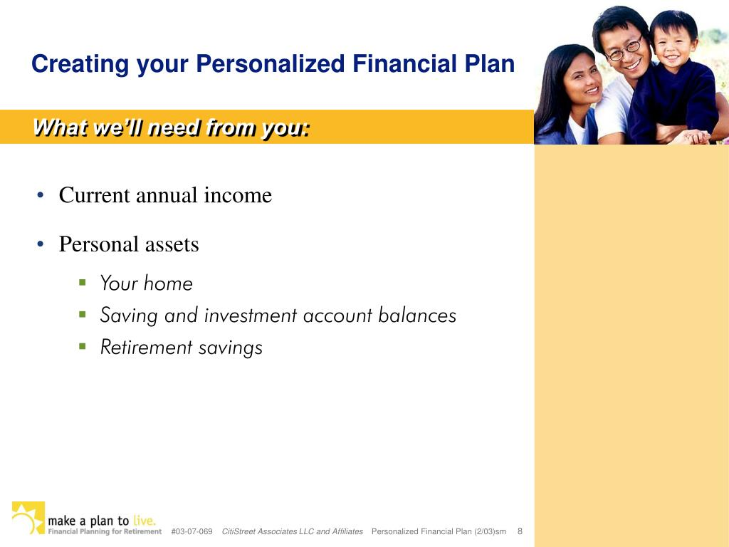 Creating your Personalized Financial Plan